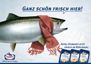 Kampagnenentwurf für Frischkost